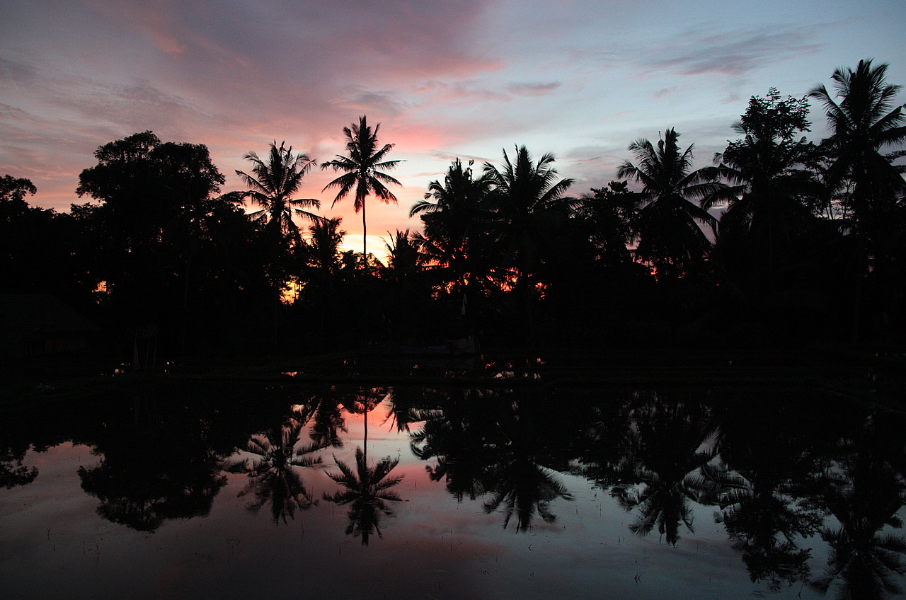 Sunset from the Warung