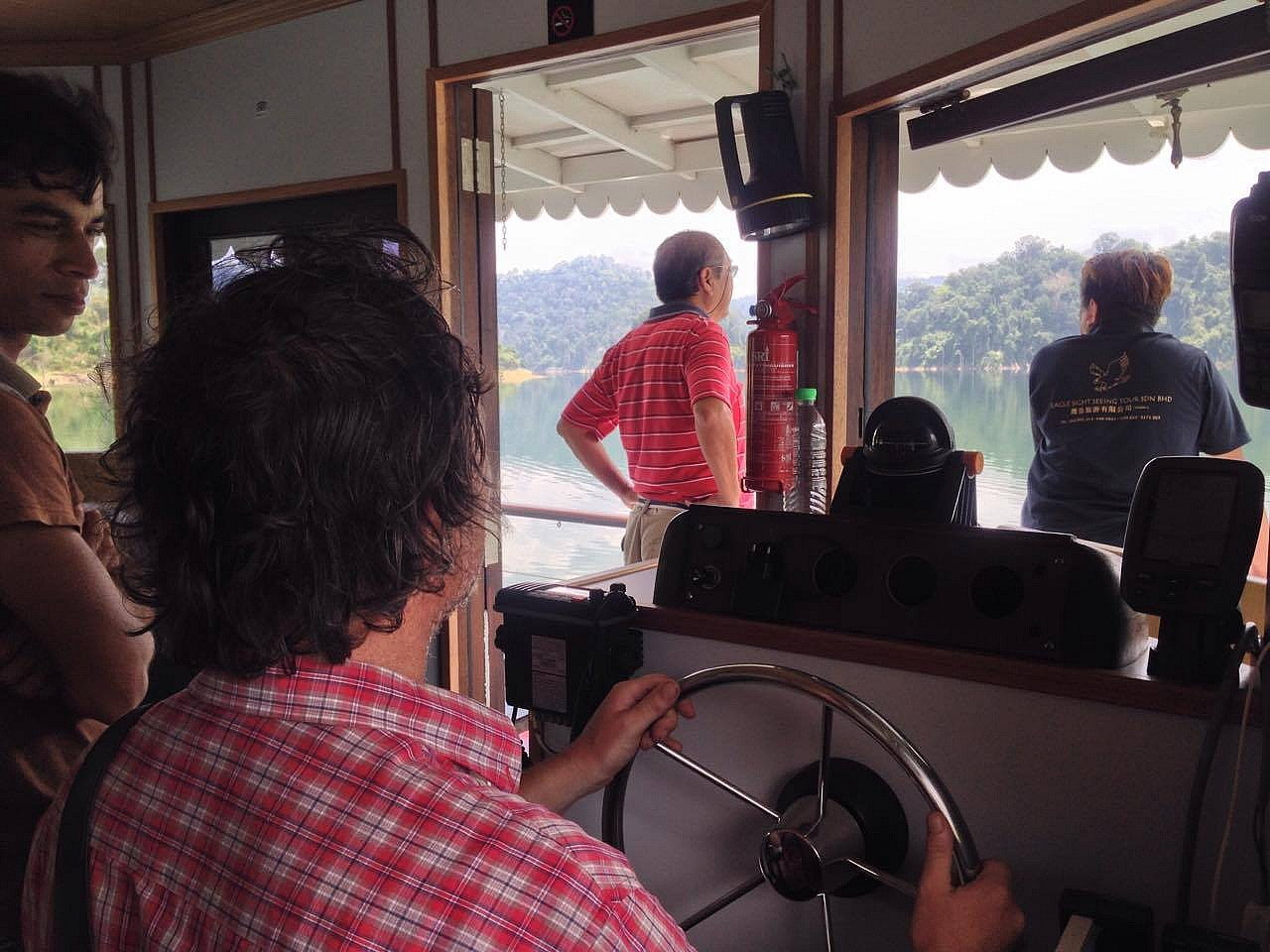 At the helm of the boathouse