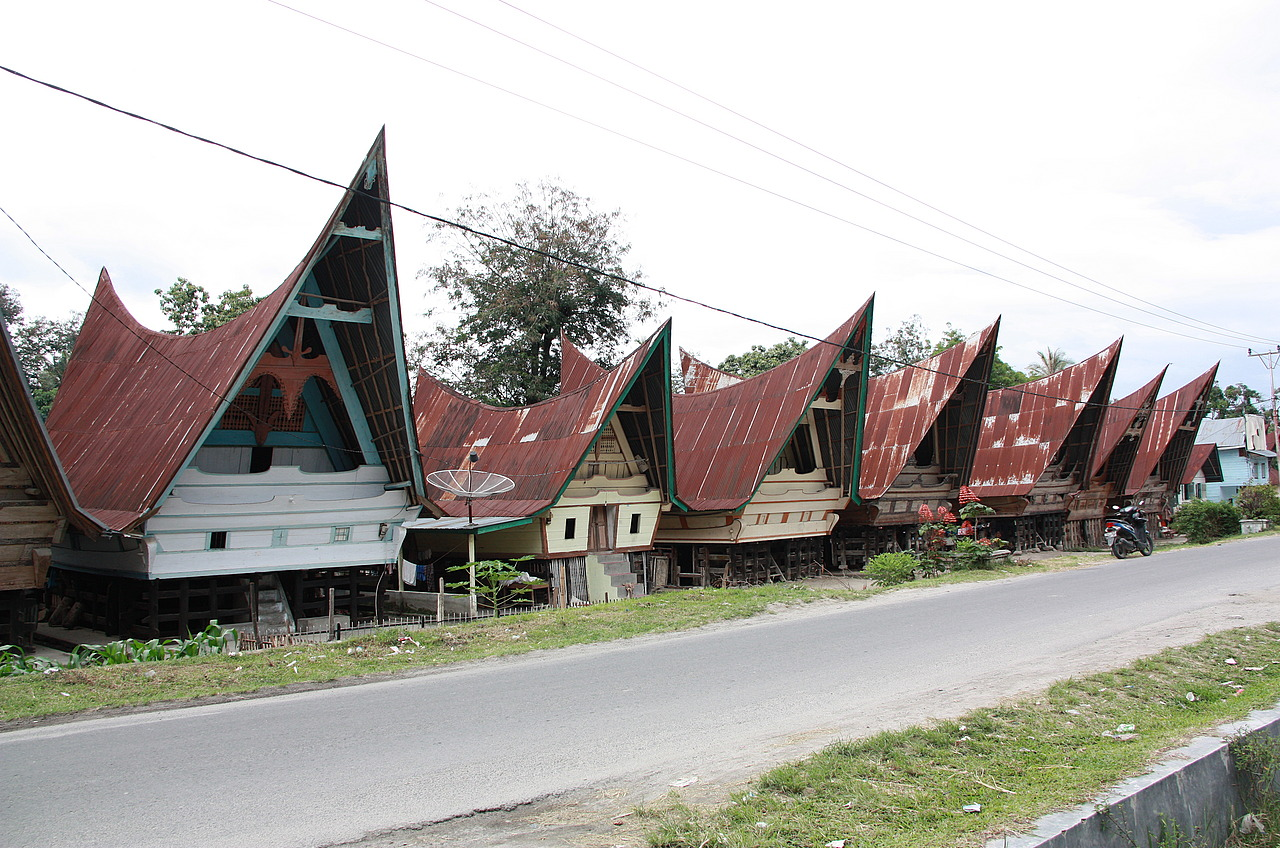 Row of Batak houses