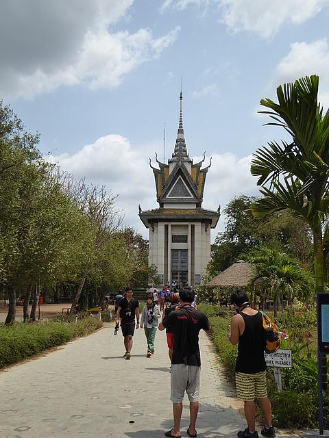 The main monument at Choeung Ek