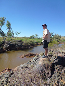 Fossicking a creek just east of Roebourne