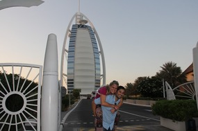 Our classic pose on front of the Burj Al Arab