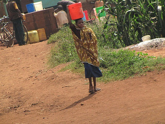Water needs to be carried, Tanzania.