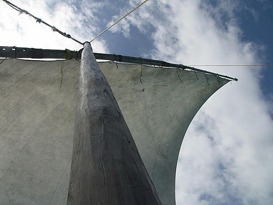 Sail power, Zanibar, Tanzania.