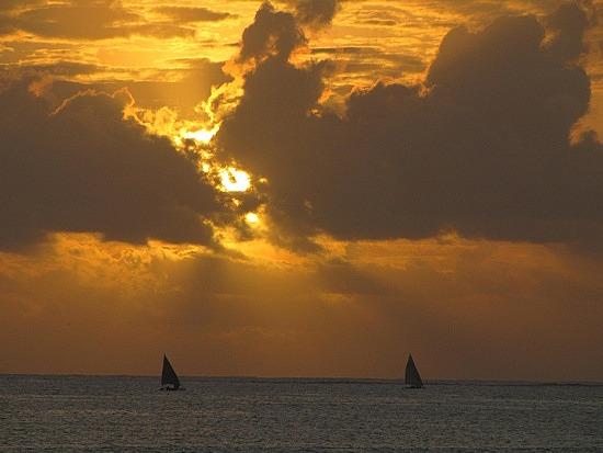 Dhow sailing early morning Dar Es Salem.