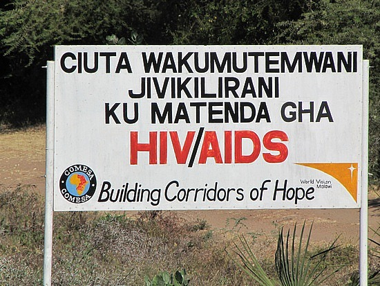 Aids ... rift, Botswana.