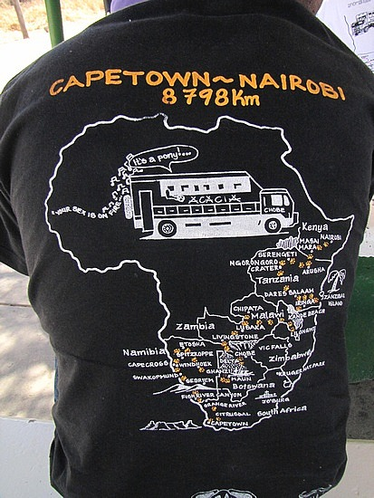 Well, it actually was Nairobi to Capetown for me.