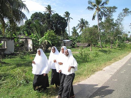 Muslim school children, Tanzania.