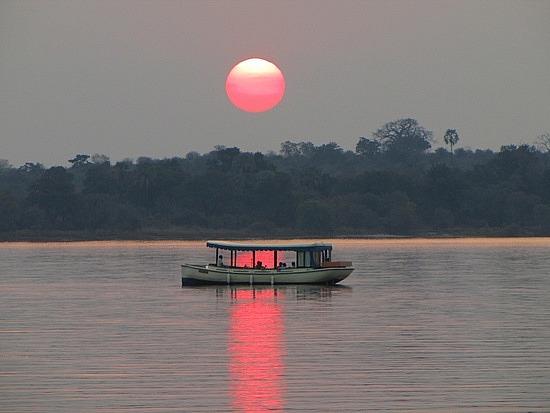 Sunset over the Zambesi River, Zambia.