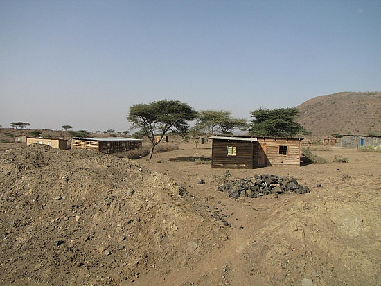 Odd small huts