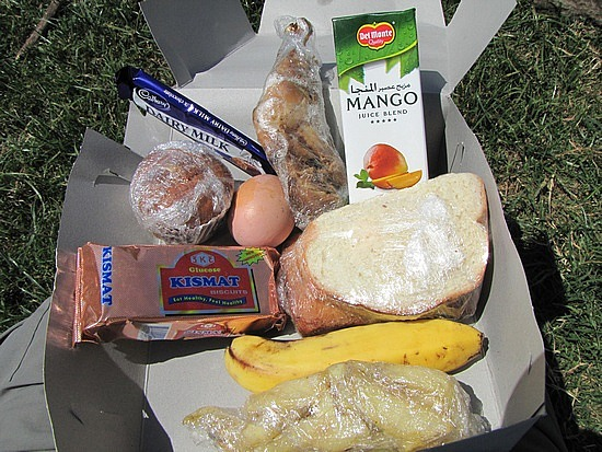 Today's on the road packed lunch