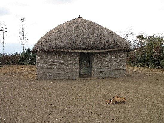 Exterior of hut