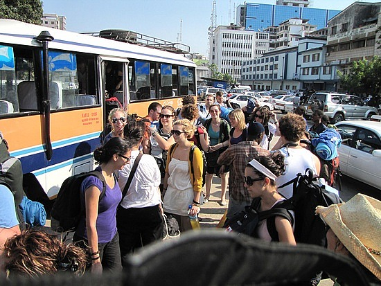 5 min bus ride to the fast ferry terminal
