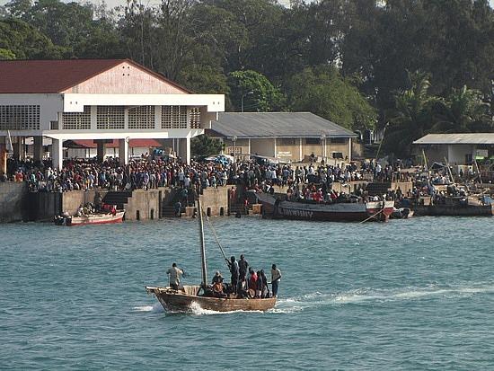 First: short ferry trip back to Dar Es Salaam