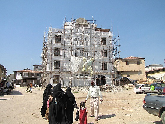 Old buildings under reconstruction