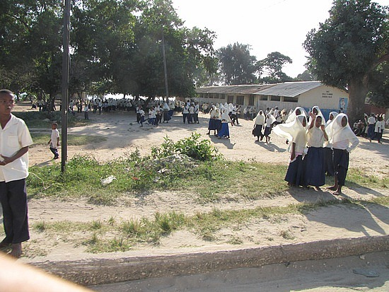 On route to Spice tour:  local school children