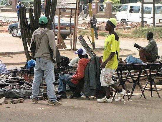 Outside Lilongwe post office
