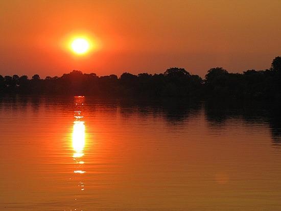 Sunset Zambezi River