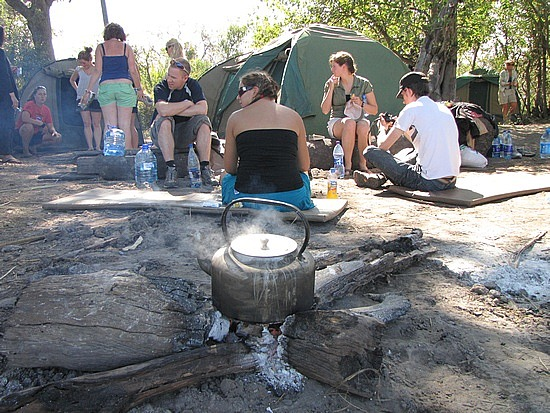 Our island campsite