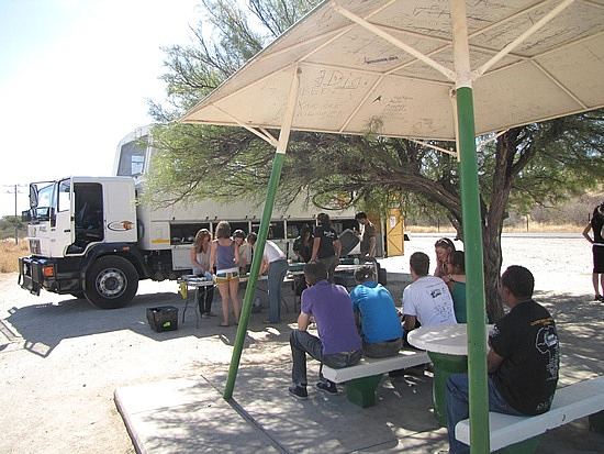 Lunch stop on route to Etosha NP