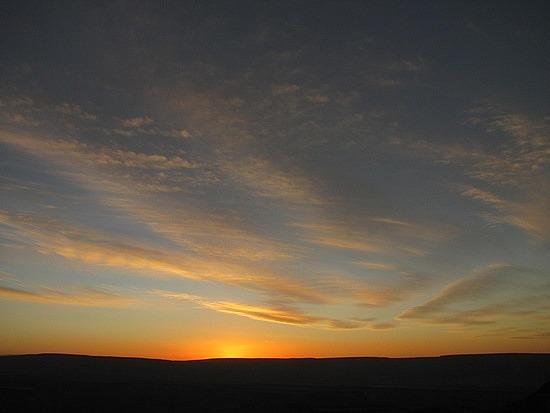 Sun sets over Fish Canyon