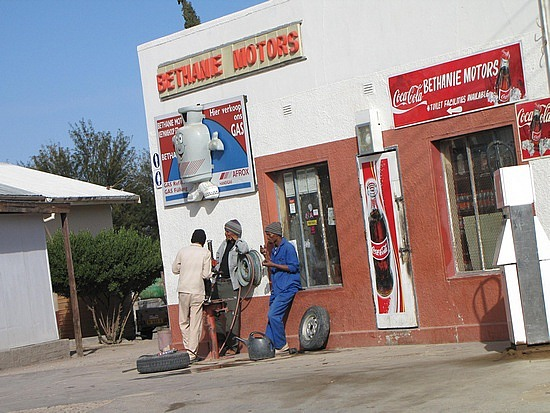Stop to get in Bethane to buy some biltong