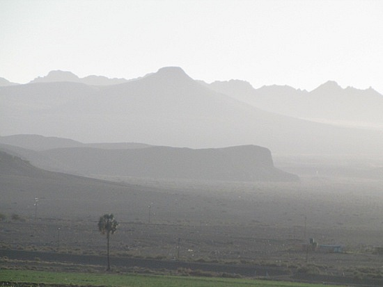 Morning mist and haze - Orange River
