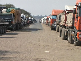 Zambia Botswana border - 3 weeks wait at times.
