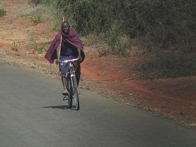 Sign of the times Massai no longer walking.