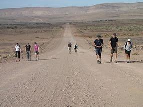 Long voluntary 10 km walk to Fish Canyon.