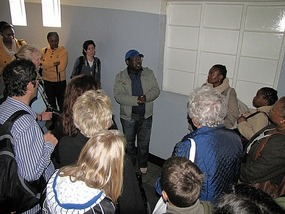 Our tour guide, a former immate. South Africa.