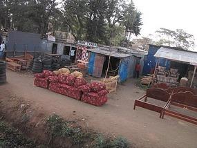 Open air road side store (dry season = no rain)