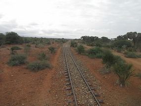 Single railway track links the country
