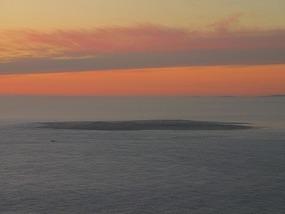 Sunset over Robben Island