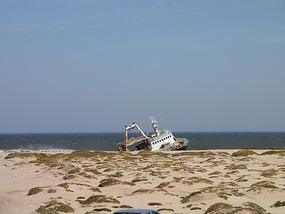 Skeleton coast  - one of many ship wrecks