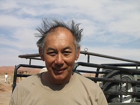Bad hair day after the 5 km ride back