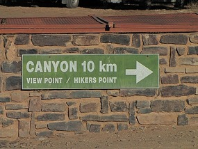 Not far ... to Fish Canyon