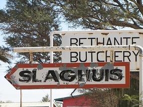 Old fashion local butchery
