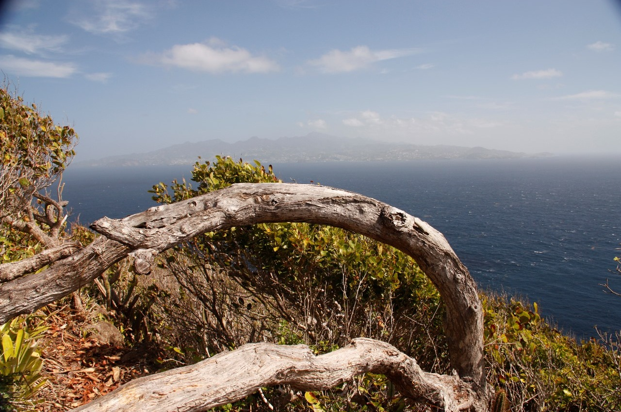 Bequia Head . . . view of St Vincent