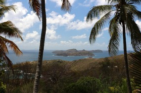 Mustique in the distance