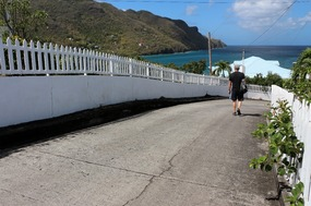 Walking down to Lower Bay