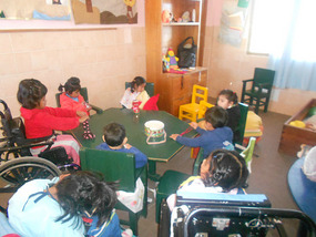 Classroom and group of children I volunteer with
