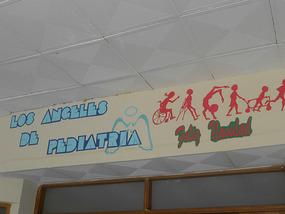 Slogan over the entrance to 'Pedetria'