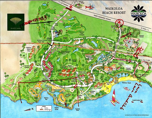 Map of Waikoloa Beach Resort - Hawaii