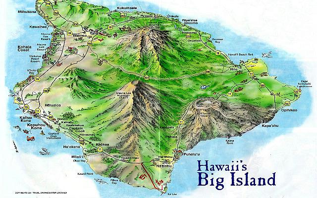 Map of Big Island - Hawaii