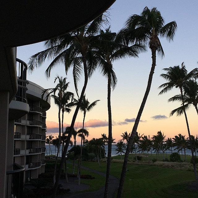 Sunrise at Hilton Waikoloa Beach - Hawaii