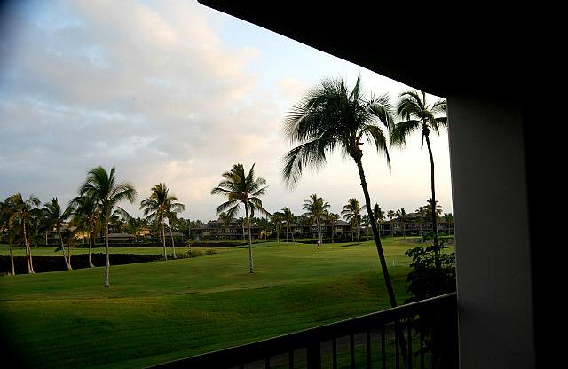 View from our balcony - Hilton Waikoloa Beach