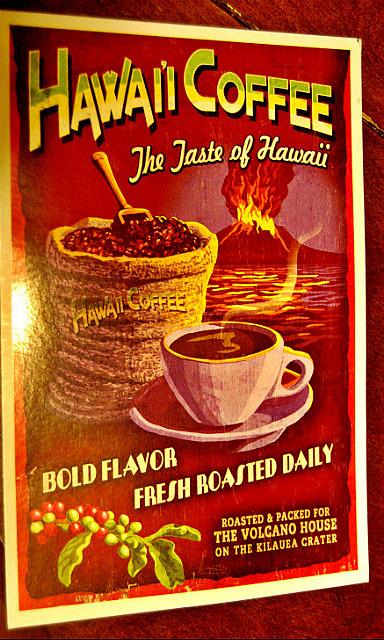 Hawaii Coffee - postcard