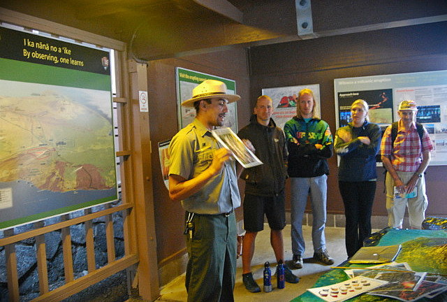 Ranger talk - Kilauea Visitor Center