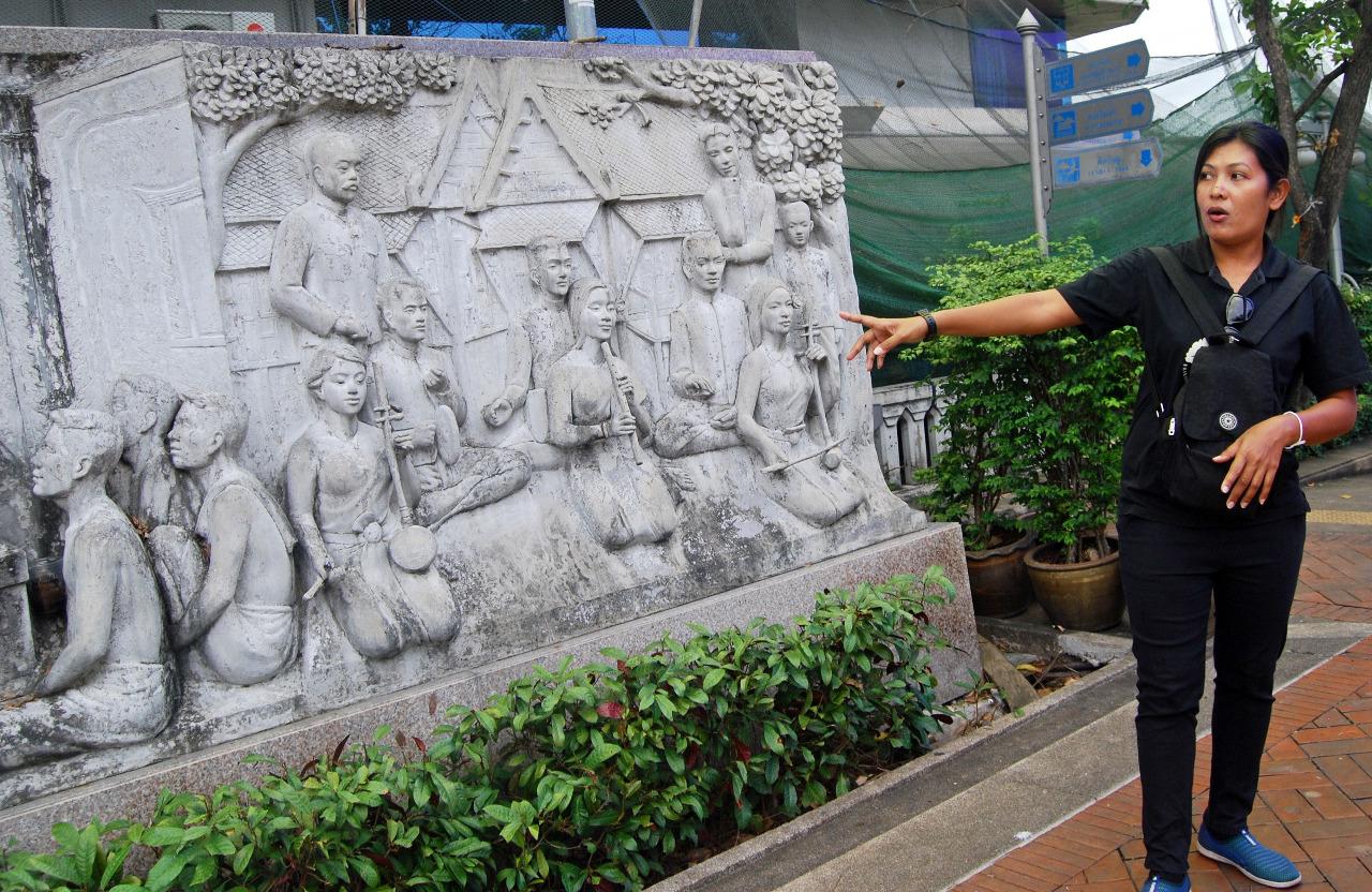 Tai leading our tour - Bangkok Thailand
